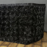 21Ft Wonderland Rosette Table Skirt - Black