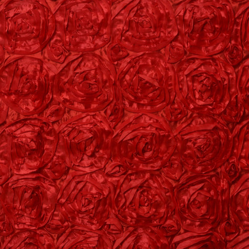 17FT Red Rosette Table Skirt