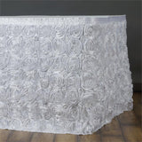 21Ft Wonderland Rosette Table Skirt - White