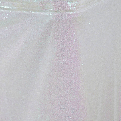 Wholesale Wedding Party Glitzy Sequin Table Skirt - White - 14FT