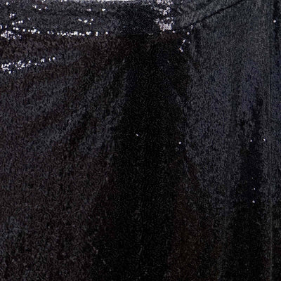 21FT Glitzy Sequin Table Skirts - Black