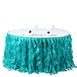 14FT Turquoise Curly Willow Taffeta Table Skirt