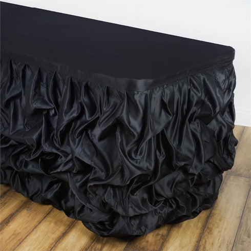 21ft CHAMBURY CASA Chic Miteux Lamour Table Skirt - Black