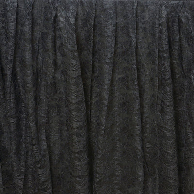 21FT BLACK Premium Wholesale Polyester Lace Table Skirt For Wedding Banquet Restaurant