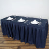 14FT Navy Blue Pleated Polyester Table Skirt