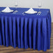 21FT ROYAL BLUE Wholesale Polyester Table Skirt For Wedding Banquet Restaurant