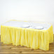 14FT Yellow 10 Mil Thick | Pleated Plastic Table Skirts - Disposable Table Skirt Spill Proof