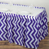 14FT Purple Disposable Waterproof Plastic Chevron Banquet Table Skirt