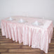 14FT Blush | Rose Gold Pleated Satin Table Skirt
