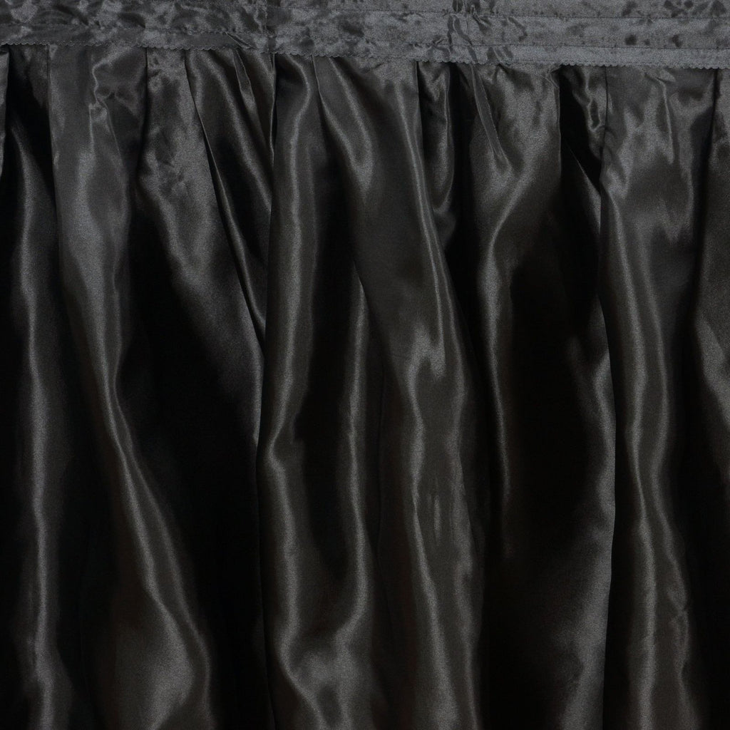 Black Satin Table Skirt 14'