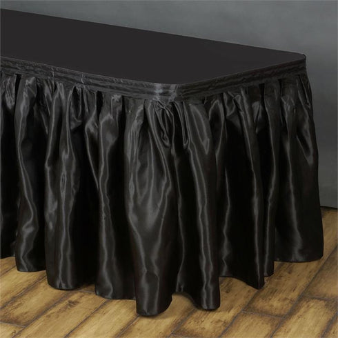 Black Satin Table Skirt 17'