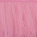 17FT Pink|Rose Quartz 4 Layer Tulle Tutu Pleated Table Skirts