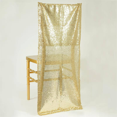 Extravaganza Duchess Sequin Chair Slipcover - Champagne