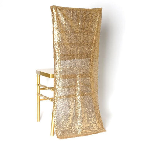 Extravaganza Duchess Sequin Chair Slipcover - Gold