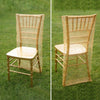 Gold Organza Chiavari Chair Covers | Chair Slipcovers with Satin Embroidery