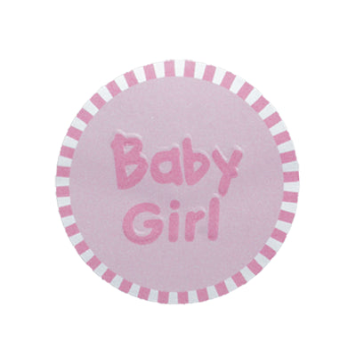 Sweet Baby Girl Round Stickers 100pcs - Pink