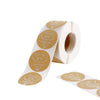 Natural Kraft Thank You for celebrating with Us Stickers Roll, Wedding Favor Envelopes Seal