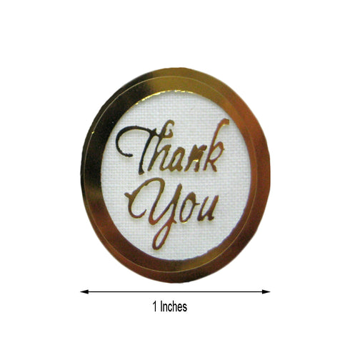 THANK YOU!! Gold Round Stickers 100pcs