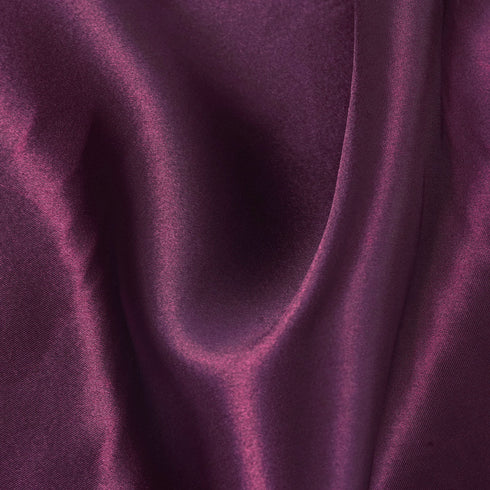 "12""x10 Yards Eggplant Satin Fabric Bolt Wedding Drape Panel Stage Decor"