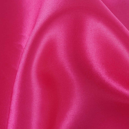"12""x10 Yards Fushia Satin Fabric Bolt Wedding Drape Panel Stage Decor"