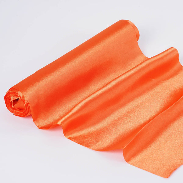 "12""x10 Yards Orange Satin Fabric Bolt"
