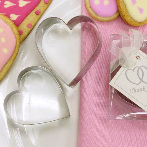 Wholesale Heart Shaped Stainless Steel Cookie Cutter Wedding Bridal Party Favor Gift