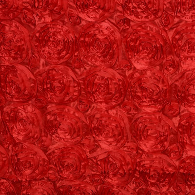 "Wonderland Rosette 90x132"" - Red Tablecloth"