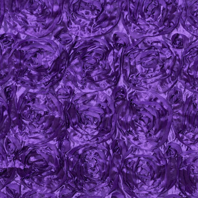 "Wonderland Rosette 90x156"" - Purple Tablecloth"