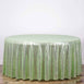 "108"" Premium Sequin Round Tablecloth - Tea Green"