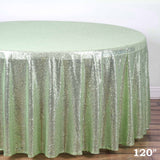 "LUXURY COLLECTION Duchess Sequin Round 120"" - Tea Green"