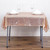 54 inch  x 54 inch Blush | Rose Gold Premium Sequin Square Tablecloth