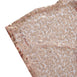 "60x102"" Premium Sequin Rectangle Tablecloth - Rose Gold 