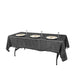 "60""x102"" Black Premium Sequin Rectangle Tablecloth"