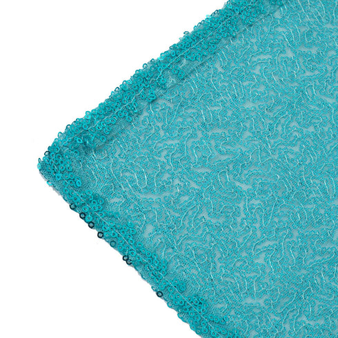 "60x102"" Premium Sequin Rectangle Tablecloth - Turquoise"