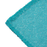"LUXURY COLLECTION Duchess Sequin Tablecloth 60x102"" - Turquoise"