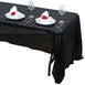 "60""x126"" Black Premium Sequin Rectangle Tablecloth"