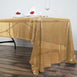 "60""x126"" Gold Premium SEQUIN Rectangle Tablecloth"