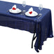 "60""x126"" Navy Premium Sequin Rectangle Tablecloth"