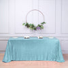 90 inch x 132 inch Serenity Blue Premium Sequin Rectangle Tablecloth