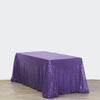 "LUXURY COLLECTION Duchess Sequin Tablecloth 90x132"" - Purple"
