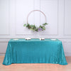 "LUXURY COLLECTION Duchess Sequin Tablecloth 90x132"" - Turquoise"
