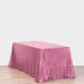 "90X156"" Pink Premium Sequin Rectangle Tablecloth"