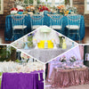 "90x156"" Fushia Premium Sequin Rectangle Tablecloth"