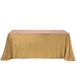 "90x156"" Gold Premium Sequin Rectangle Tablecloth"