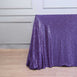 "90x156"" Purple Premium Sequin Rectangle Tablecloth"