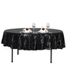 "90"" Black Premium Sequin Round Tablecloth"