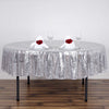 "90"" Premium Sequin Round Tablecloth - Silver"