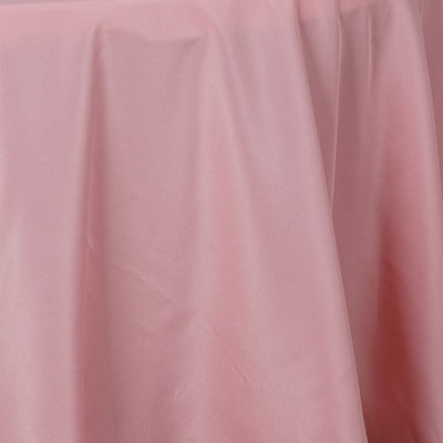 "108"" ROSE QUARTZ Wholesale Polyester Round Tablecloth For Wedding Banquet Restaurant"