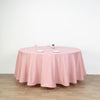 108 inch Dusty Rose Polyester Round Tablecloth