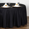 "108"" Polyester Round Tablecloth - Black"